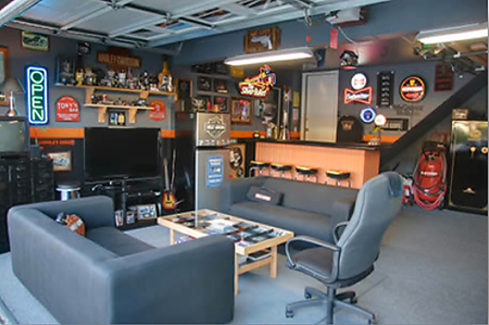 The men in the garage the rational male for Half garage half man cave